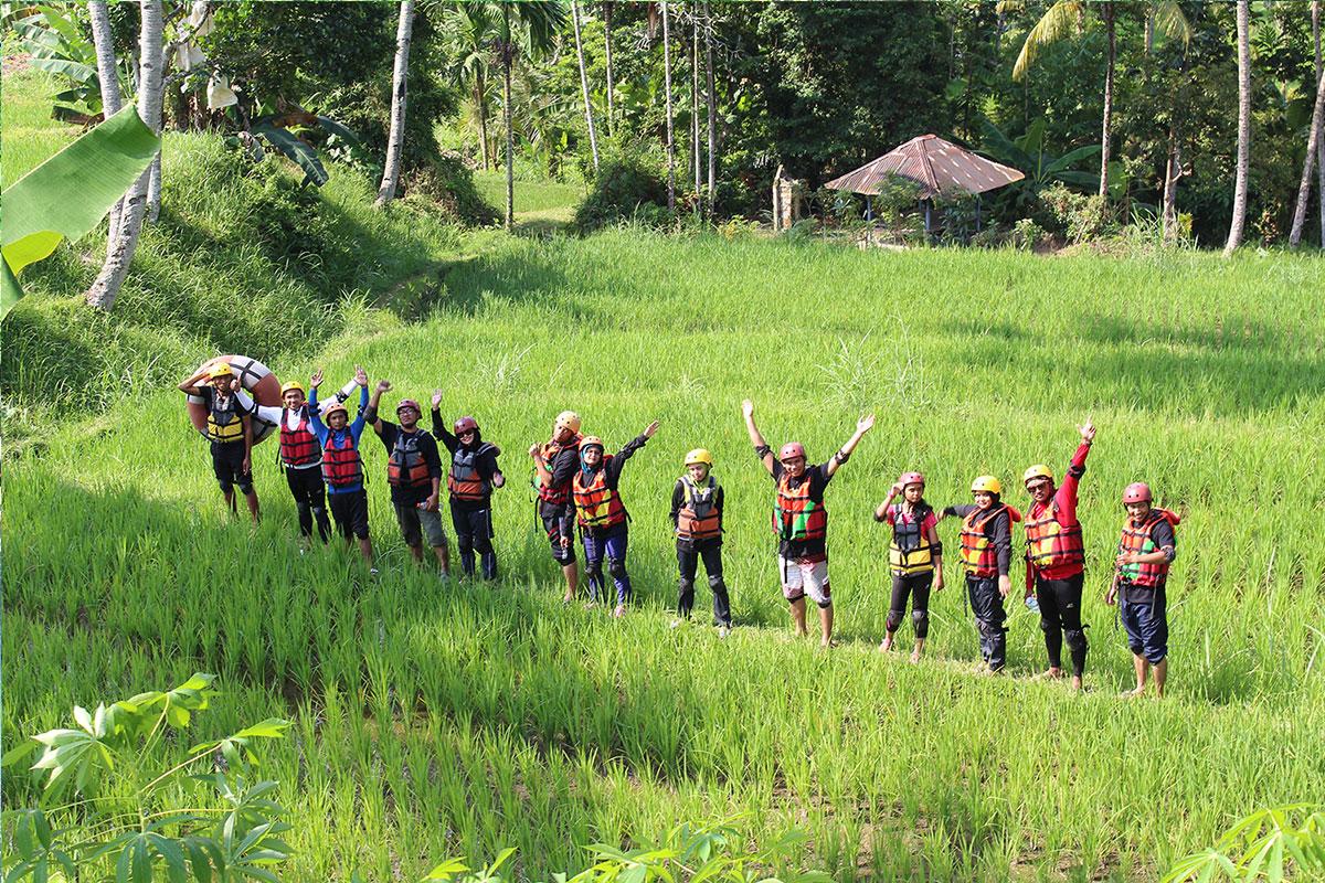 River tubing Lombok island