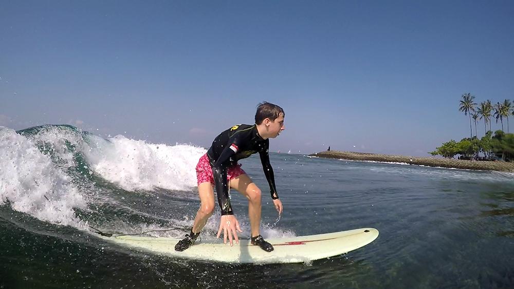 semiprivate surf lesson Senggigi Lombok