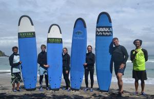 Semi private class for beginner surf lesson