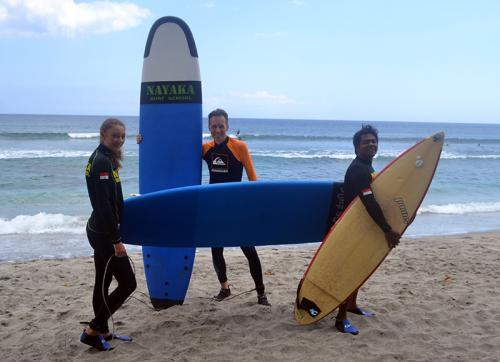 Surfing in North Lombok