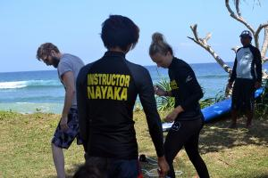 Semi private class at Nayaka surf school